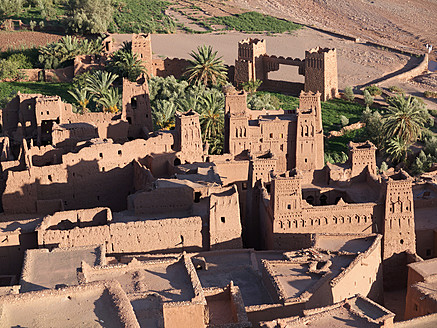 Morocco, Ait Benhaddou, View of historic film set - BSC000062