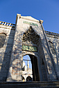 Turkey, Istanbul, View of Blue Mosque through exit - PSF000619