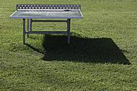 Germany, Upper Bavaria, Tennis table on resort area restort - TCF001952