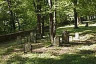 Germany, Bavaria, Franconia, Franconian Switzerland, Heiligenstadt, View of jewish graveyard - SIE001982