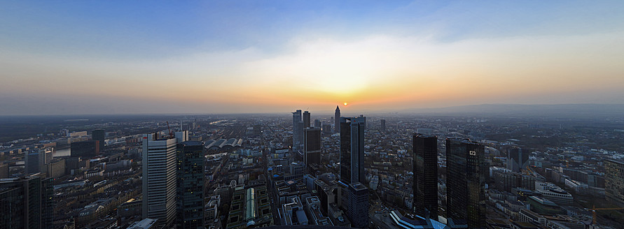 Germany, Frankfurt, View of town at sunset - FO003758