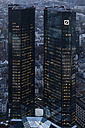 Germany, Frankfurt, View of Deutsche Bank at dusk - FO003764