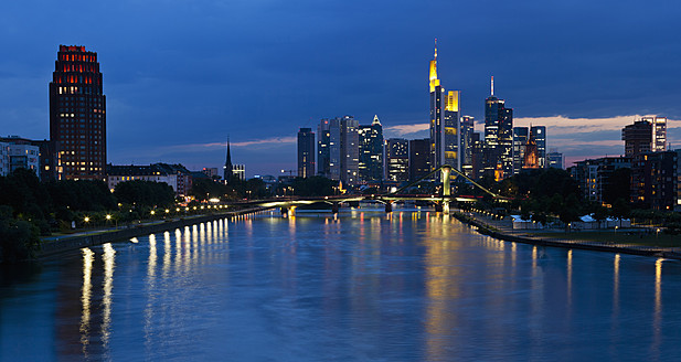 Germany, Frankfurt, View of city at night - FOF003774