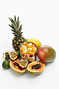 Variety of fruits on white background - CSF015487