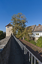 Germany, Thuringia, Muhlhausen, View of city wall - WDF001172