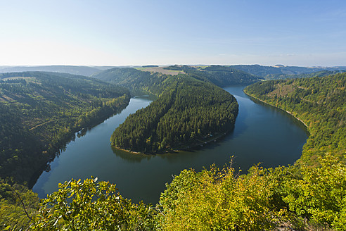 Germany, Thuringia, View of Saaleschleife - WDF001142
