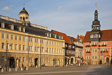 Germany, Thuringia, Eisenach, View of palace at market place - WDF001137