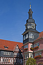 Germany, Thuringia, Eisenach, View of town hall at market place - WDF001135