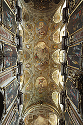 Austria, Lower Austria, Mostviertel, St. Poelten, View of Dom Maria Himmelfahrt Cathedral with fresco painting - SIE002219