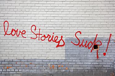 USA, New York, Text on brick wall - ANB000053
