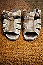 Germany, Sandals on doormat - ANBF000118