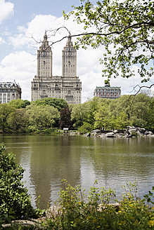 USA, New York City, Vew of Dakota Building from Central Park - ANB000152