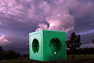 Green socket on landscape - CSF015767