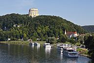 Germany, Bavaria, Lower Bavaria, Kehlheim,  View of Befreiungshalle at Danube River - SIEF002310