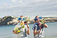 Spain, Mallorca, Children playing on beach - MFPF000099