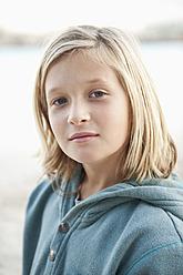 Spain, Mallorca, Boy on beach, portrait - MFPF000102