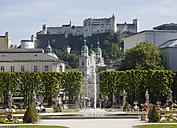 Austria, Salzburg, People in the Mirabell Garden - WWF002054