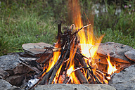 Europe, Belgium, View of campfire - GWF001702