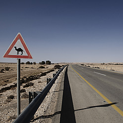 Israel, View of camel sign - THF001183