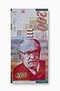 Israeli New Shekel banknote on white background - THF001153