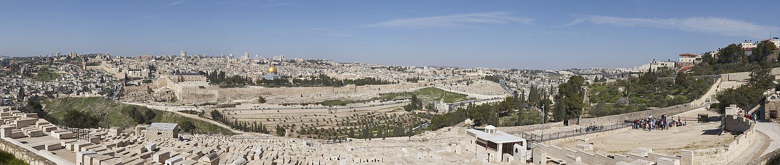 Israel, Jerusalem, View of mount olivet - TH001143