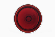 Glass of red wine on white background - TCF002201
