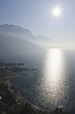 Italy, View of Lake Garda at sunset - MIRF000384