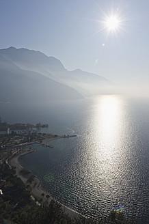 Italy, View of Lake Garda at sunset - MIRF000384