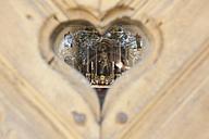 Germany, Bavaria, Chapel through heart shaped hole - DSF000333