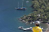 Turkey, Sarsala, Bay, Mid adult woman looking away - DSF000372