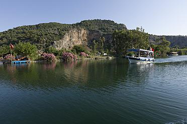 Turkey, Dalyan delta, View of boat - DSF000389