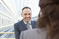 Germany, Leipzig, Business people smiling - WESTF018558