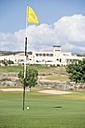Cyprus, Golf flag on golf course - GNF001208