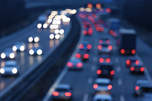 Europe, Germany, Bavaria, Munich, Rush hour at evening on highway - TCF002259