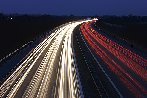 Europe, Germany, Bavaria, Munich, Rush hour at evening on highway - TCF002262