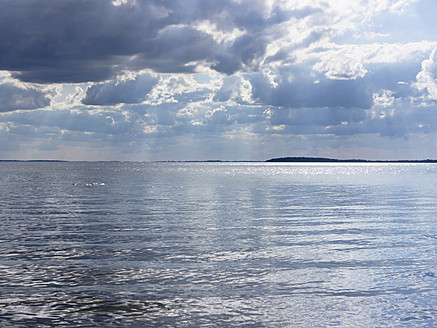 Germany, View of cloudy sky over Baltic Sea at Rugen Island - LFF000349