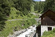 Switzerland, Mature man riding on bicycle - DSF000400