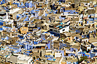 India, Rajasthan, Jodhpur, View of Blue City - MBEF000284