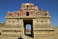 India, Karnataka, Hampi, View of Krishna temple - MBEF000298