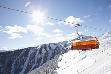 Austria, View of ski lift above austrian alps - FLF000036