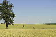 Germany, Saxony, View of wind turbine on field - MJF000008