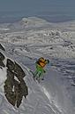 Sweden, Skier skiing steep downhill - FFF001292