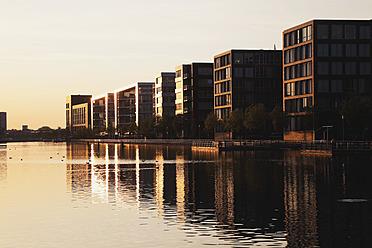 Europe, Germany, North Rhine Westphalia, View of Duisburg Inner Harbour - GWF001757