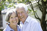 Germany, Bavaria, Senior couple smiling, portrait - TCF002589