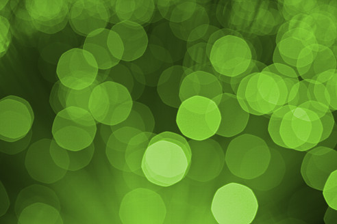 Green blured fiber lights, close up - TSF000363