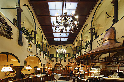 Austria, Styria, Leoben, Schwarzer Adler restaurant - SIE002621