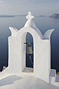 Greece, Bell tower in front of caldera at Oia - RUEF000928