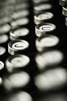 Close up of old typewriter keys - TLF000662