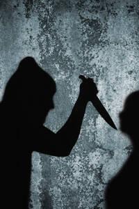 Close up of knife crime scene - TL000667