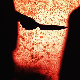 Close up of knife crime scene - TL000669
